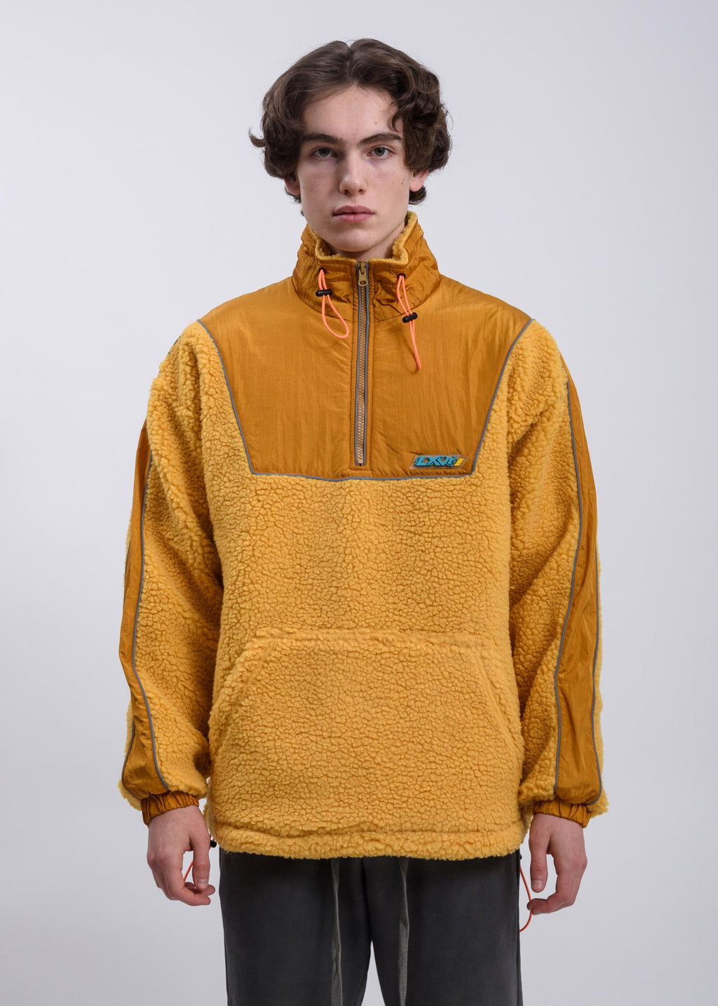 Yellow Piping Fleece Sweater