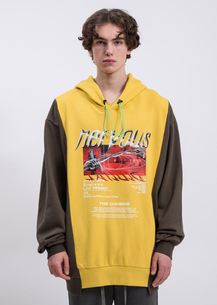 Yellow Reconstructed Hoodie