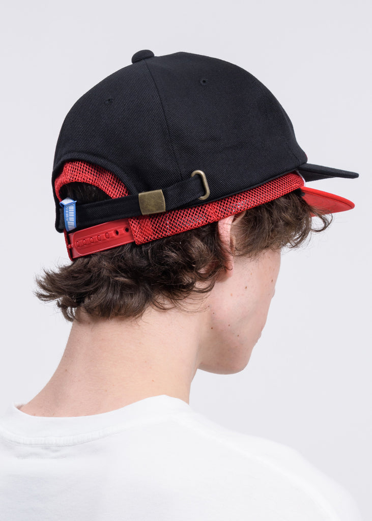 Black And Red  Double Cap