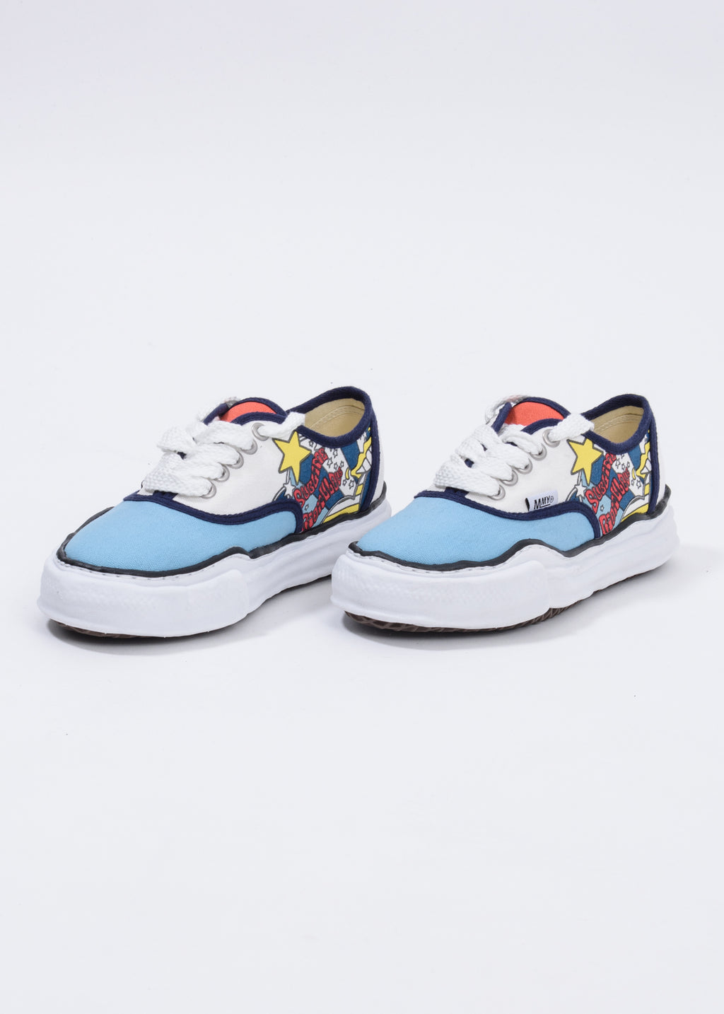 Navy  Printed Canvas Original Sole Low Cut Sneaker