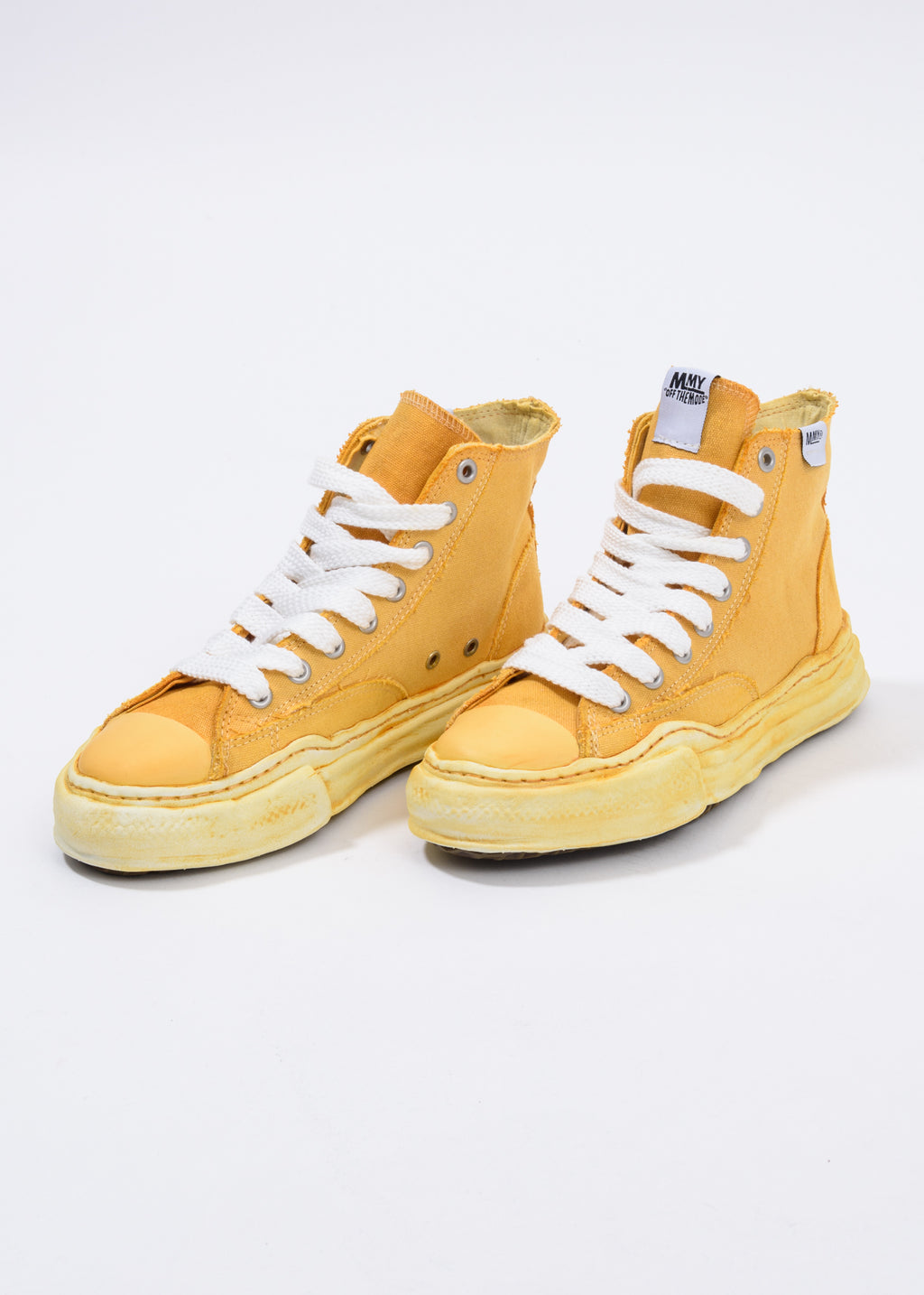 Yellow Overdye Original Sole High Top Sneaker