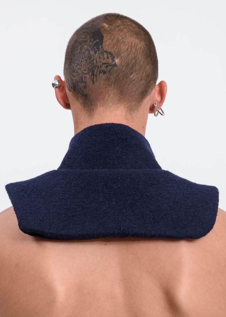 Navy Dickie Zip Up Neck Warmer
