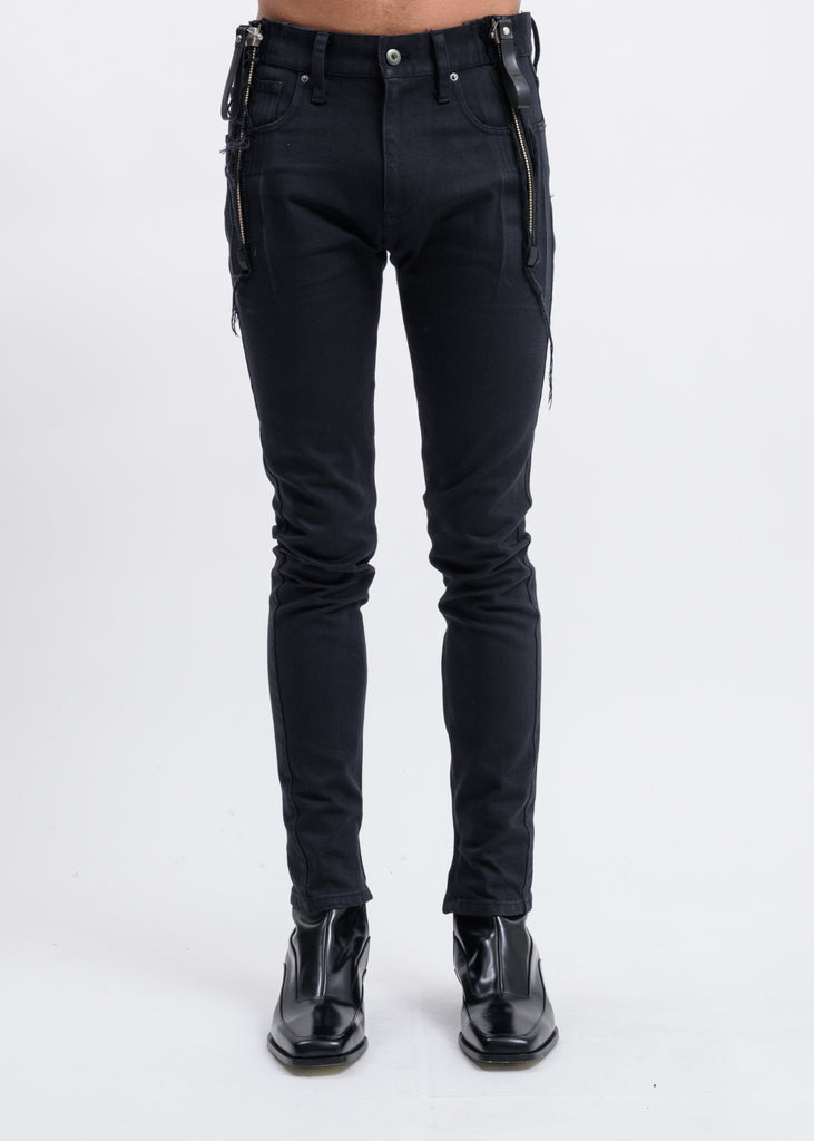 Black Zip Skinny Jeans