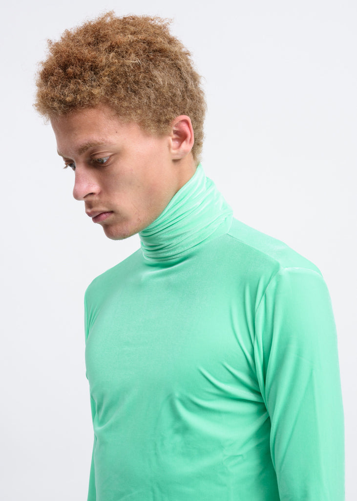 Green Velour Turtleneck