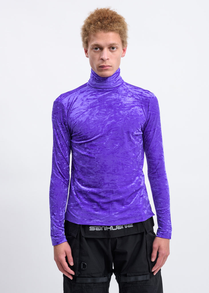 Purple Velour Turtleneck