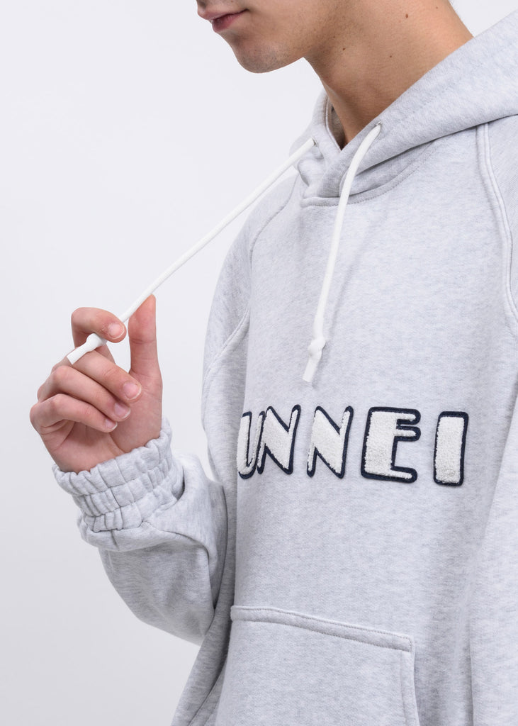 Grey Hoodie With SUNNEI Patch
