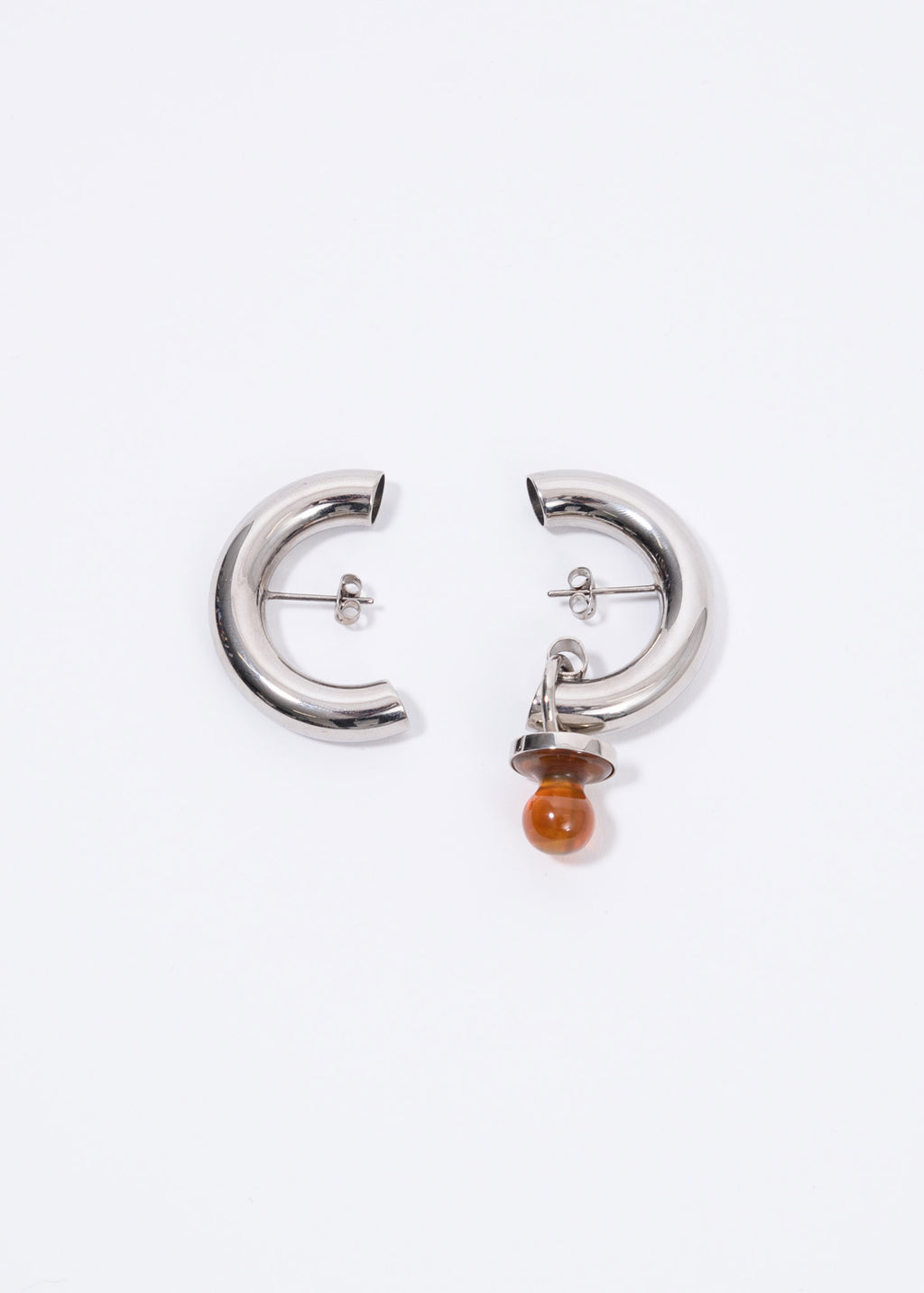 Silver And Stone Small Dummy Earring