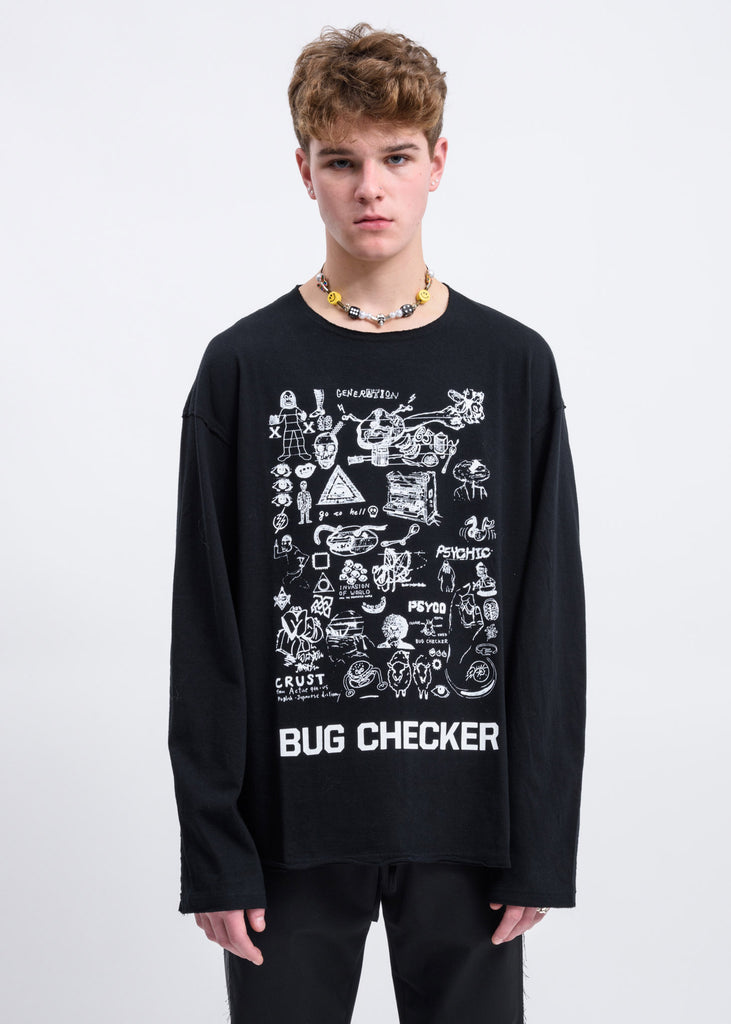 Black Bug Checker Sweater