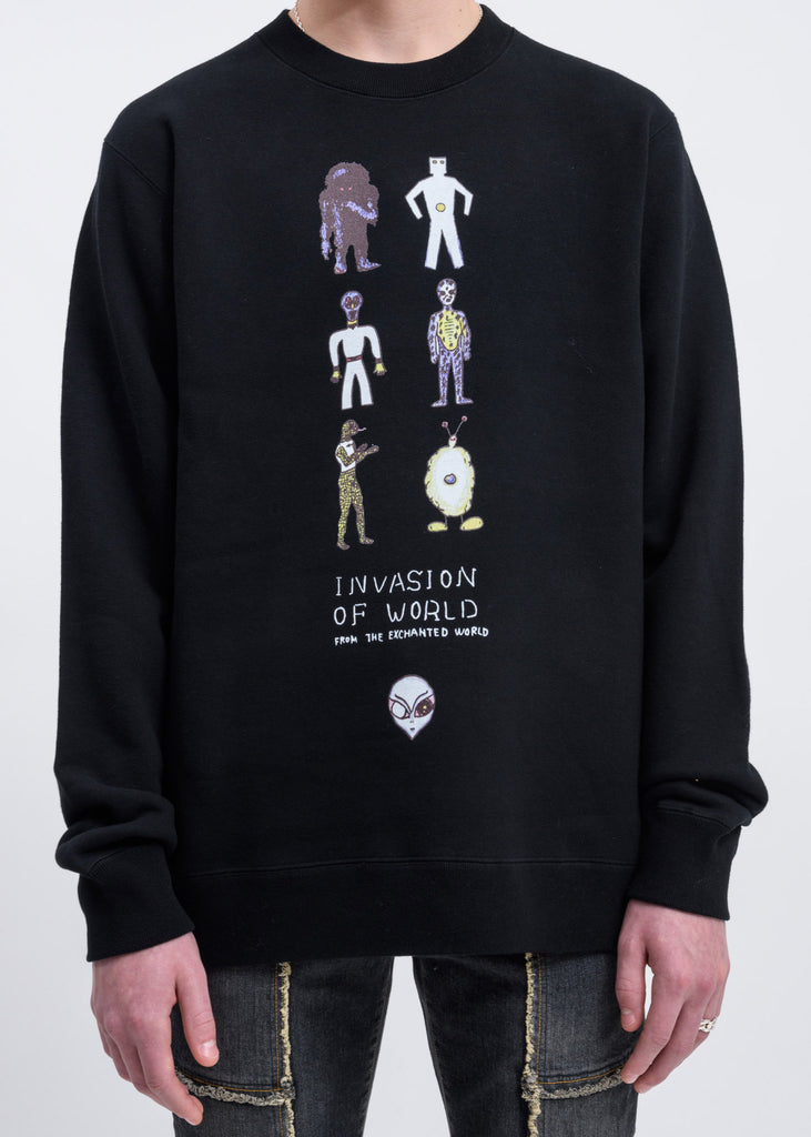 Black Invasion Of World Sweater