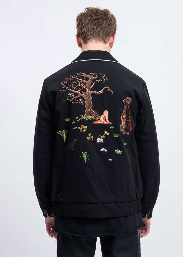 Black Yuji Okamoto Graphic Embroidery Jacket