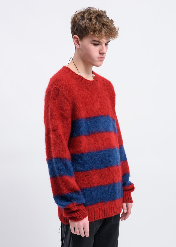 Red Border Mohair Sweater