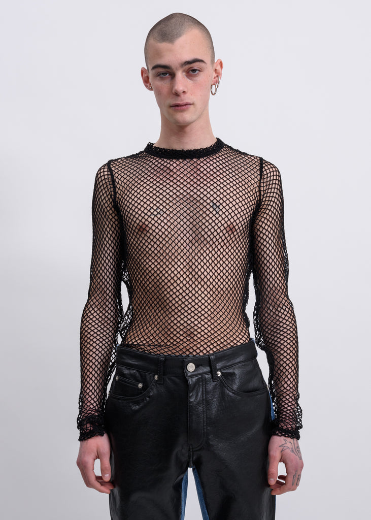 Black Fishnet Long Sleeves