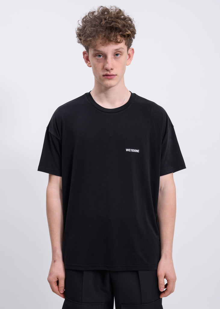 Black WELLDONE Logo Oversized Jersey Tee