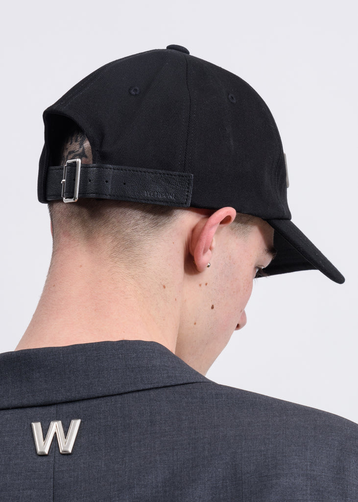 Black WD Studded Cap