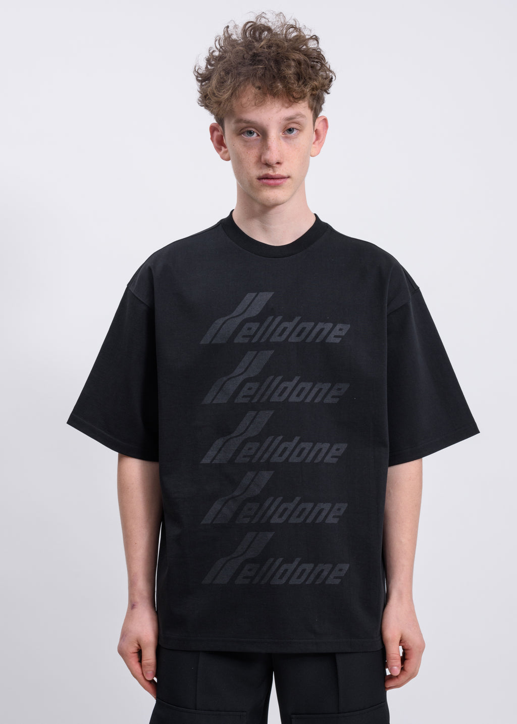 Black WELLDONE Front Logo T-Shirt