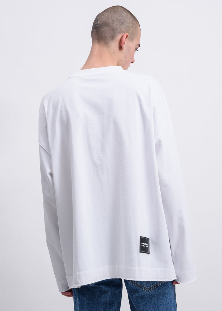 White Metal Logo Long Sleeves