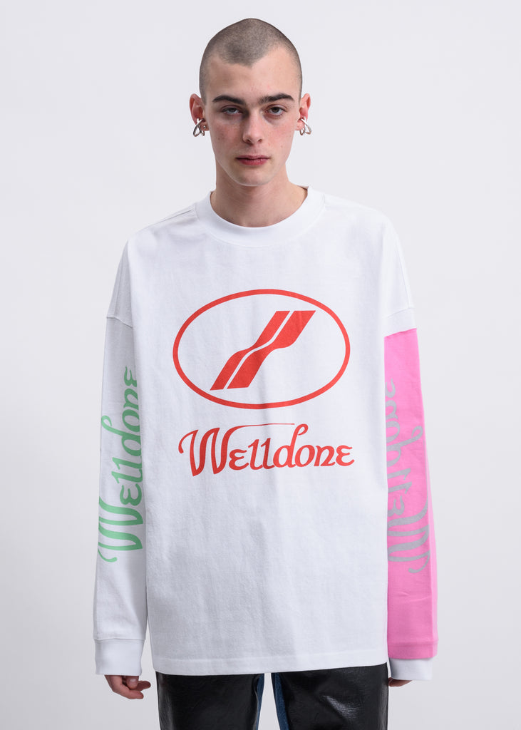 White Remake  Logo Long Sleeves