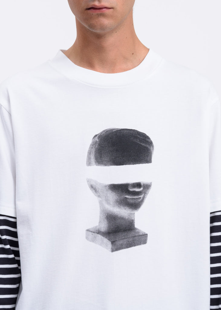 White Hymypoika Double Layer T-Shirt