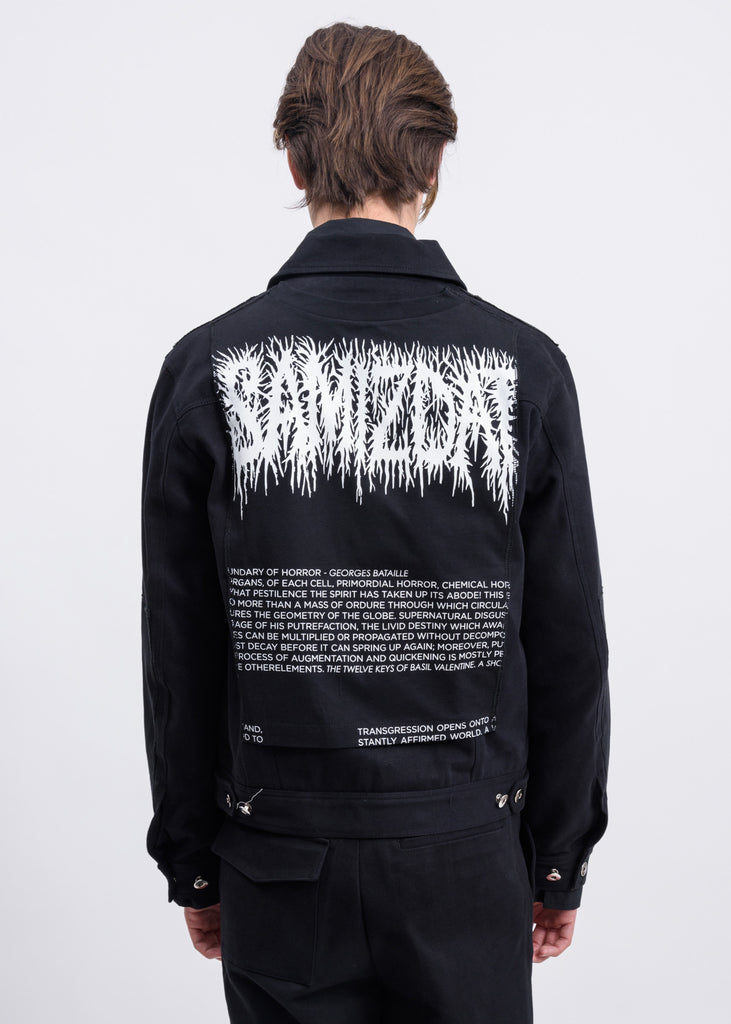 Black Denim Samizdat Jacket