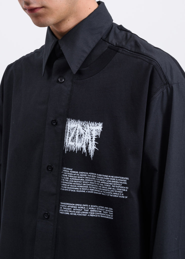 Black Patches Oversized Shirt