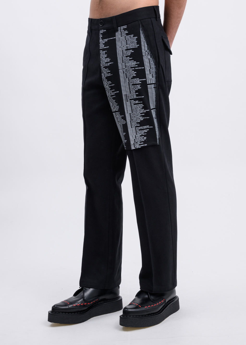 Black Samizdat Chino Trousers