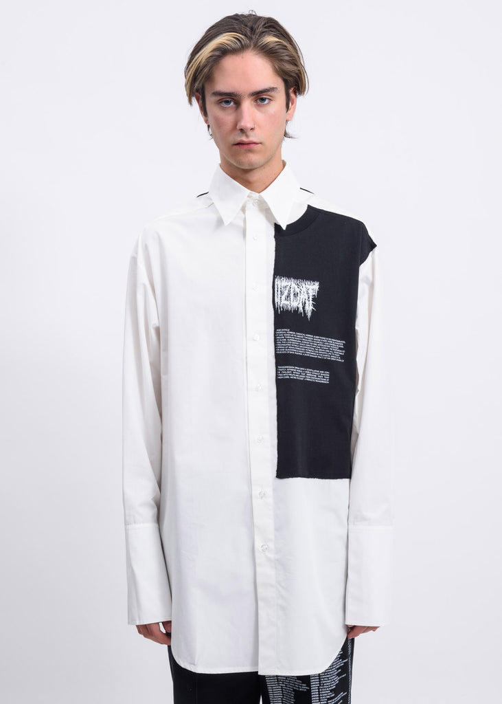 Off White Patches Oversized Shirt