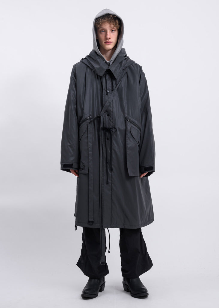Reflective Padded Fishtail Parka w/ Detachable Bag