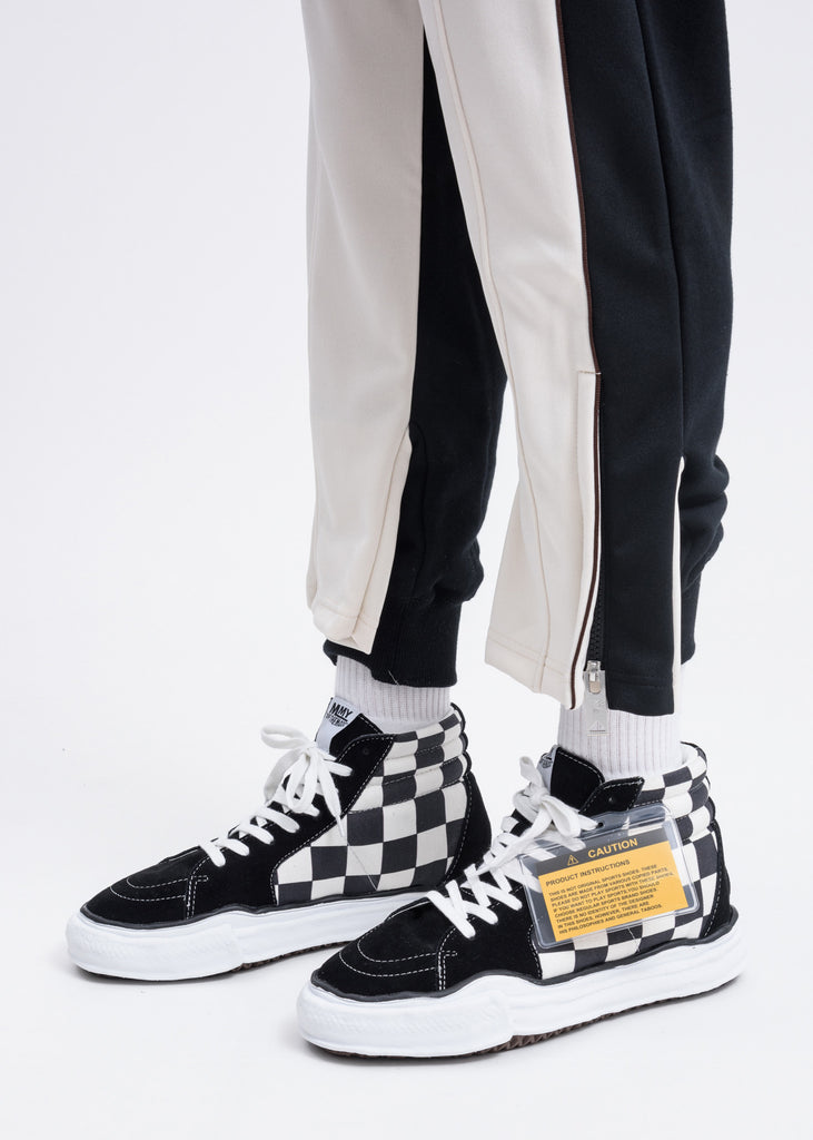 Black Gingham Sole High Top Original Sole Sneaker