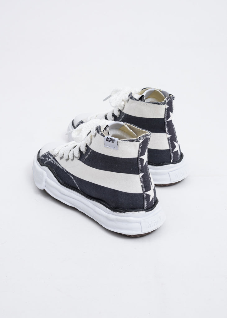 Black and White Stars and Stripes High Top Original Sole Sneaker