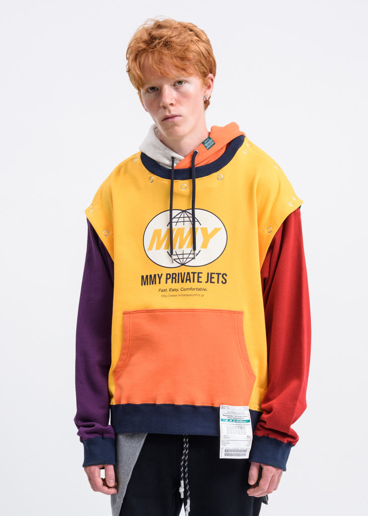 Yellow Removable Hoodie