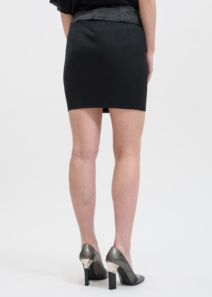 RtA, Black Zandra Suiting Mini Skirt, 017 Shop