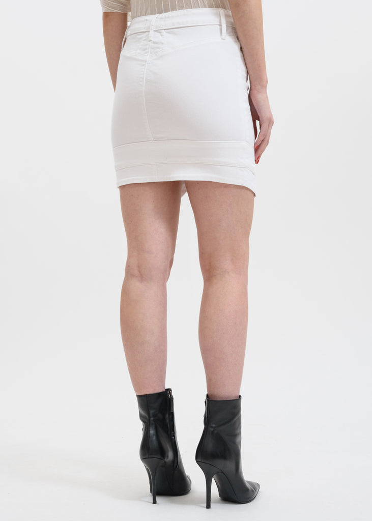 White Tempest V-Point Skirt