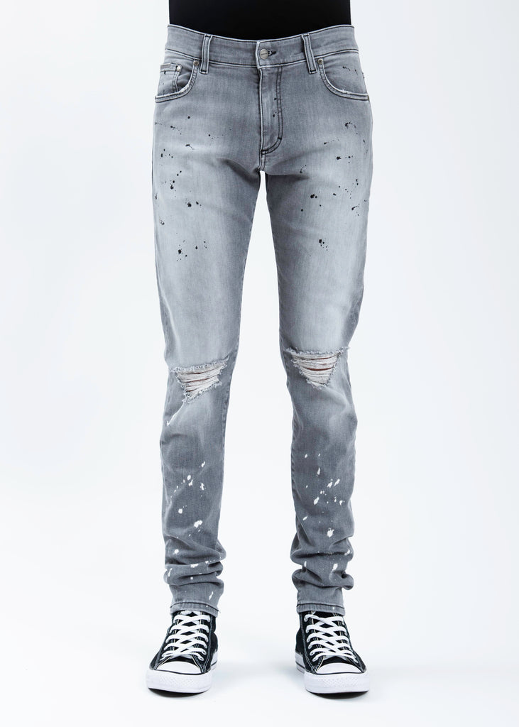 Light Grey Destroyer Denim Jeans