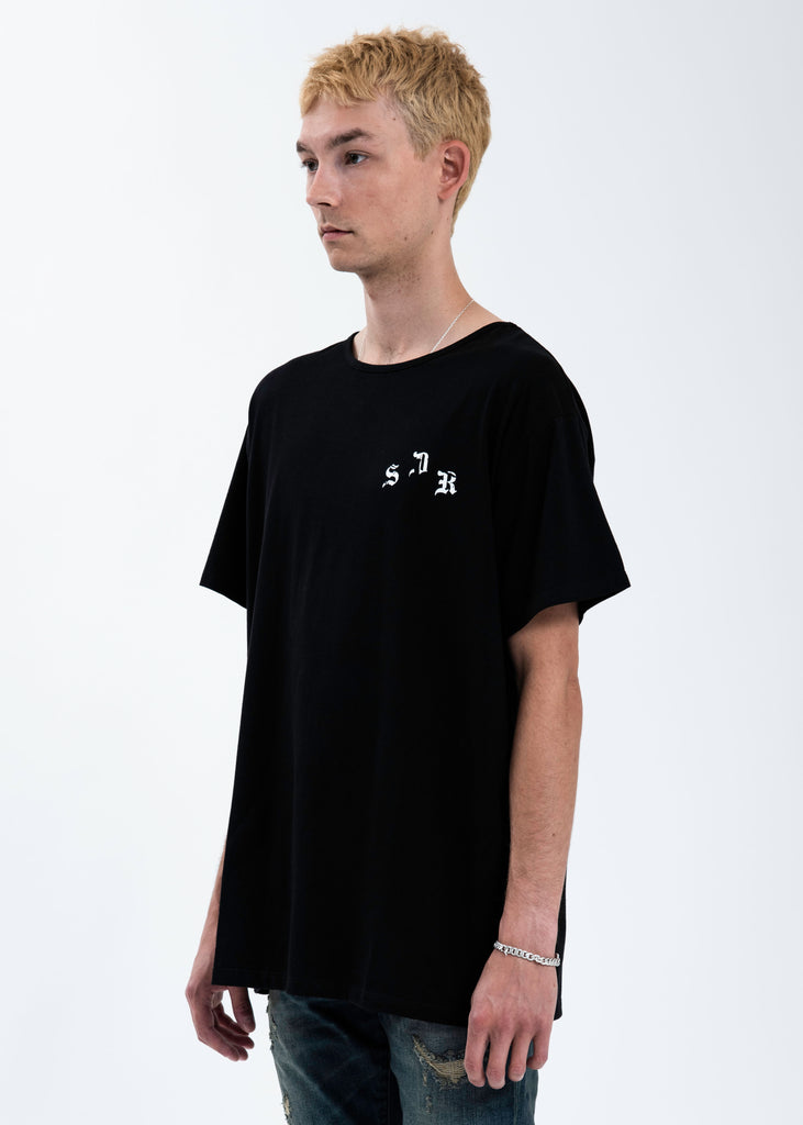 Black Distressed Logo T-Shirt