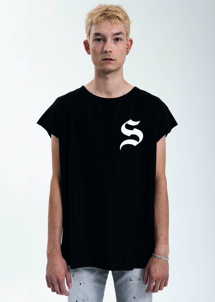 Black S Muscle T-Shirt