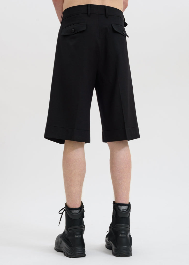 Sankuanz, Black Light Wool Shorts, 017 Shop