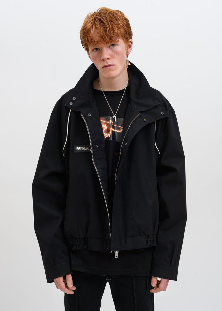 Black Zip Logo Jacket