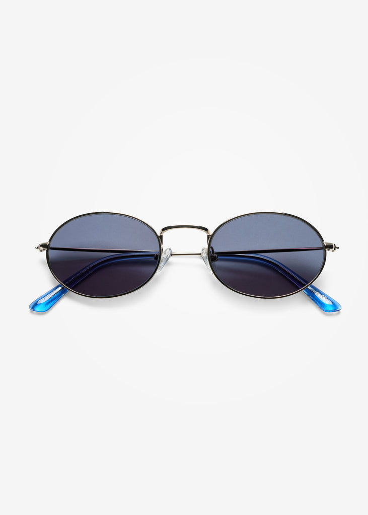 Silver and Blue Sky Aaliyah Sunglasses