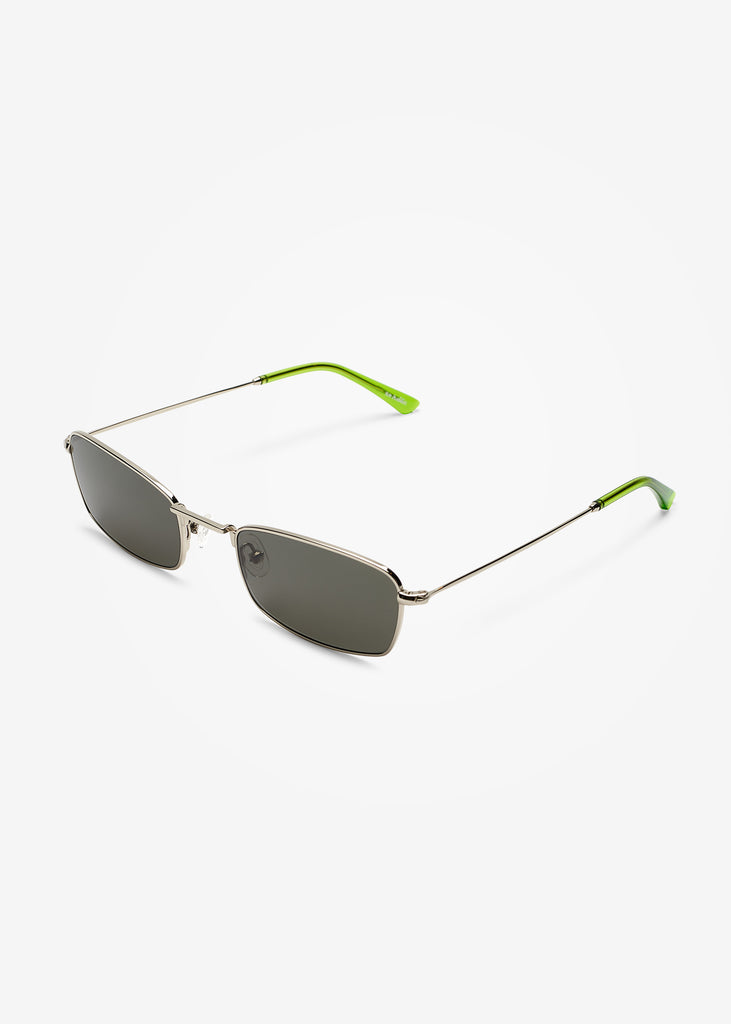 Silver and Gremlin Green E-40 Sunglasses