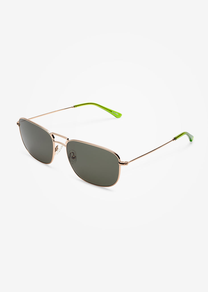 Gold and Green Gremlin Giorgio Sunglasses