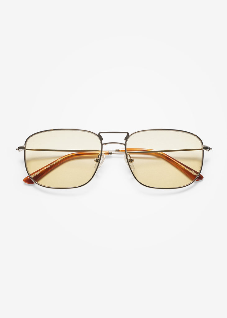 Silver and Brown Smoke Giorgio Sunglasses
