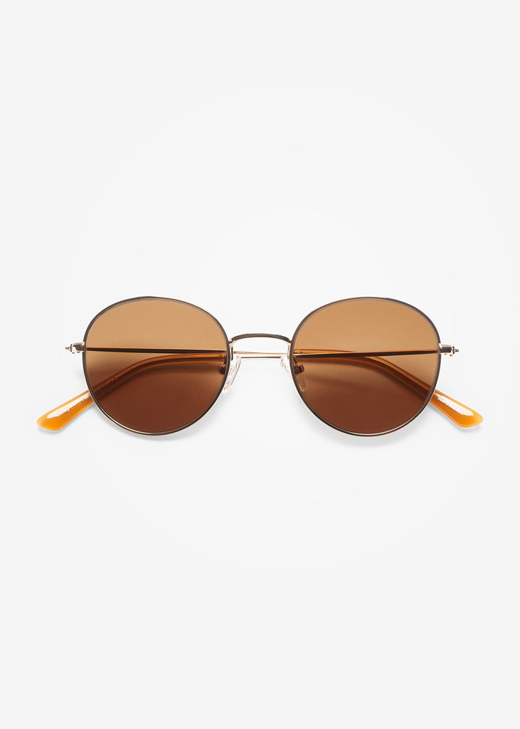 Gold and Cola Ozzy Sunglasses