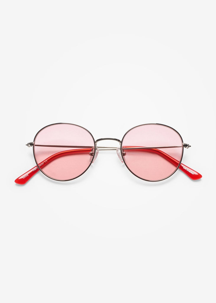 Silver & Twizzlers Red Ozzy Sunglasses