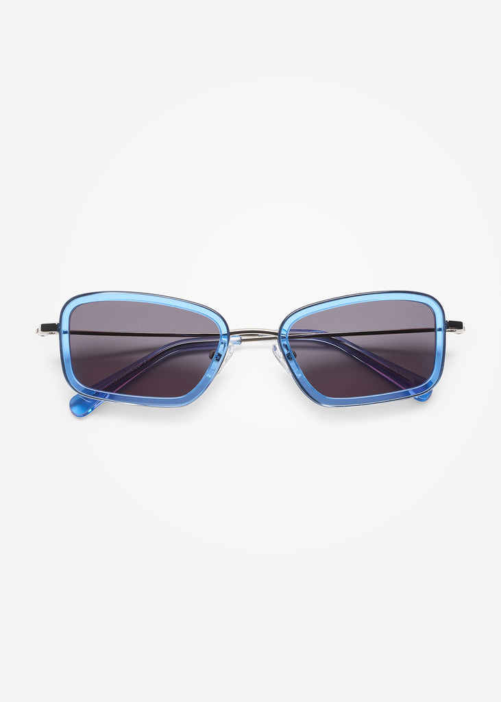 Silver & Blue Sky River Sunglasses