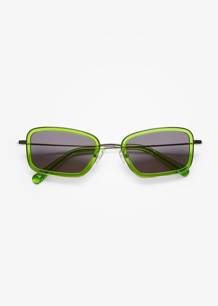 Silver & Gremlin Green River Sunglasses