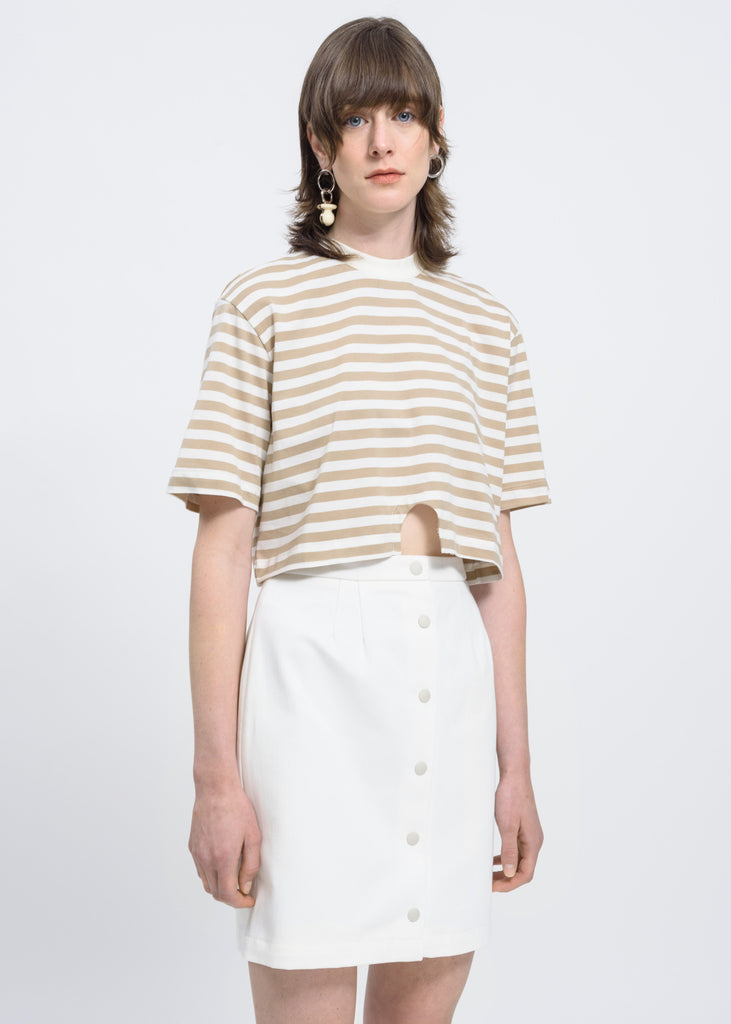 Sand Stripe Hole T-Shirt