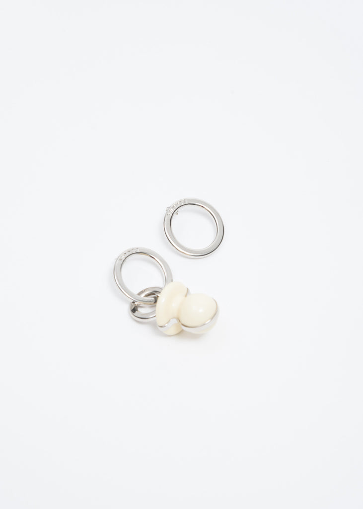 White Dummy Earring
