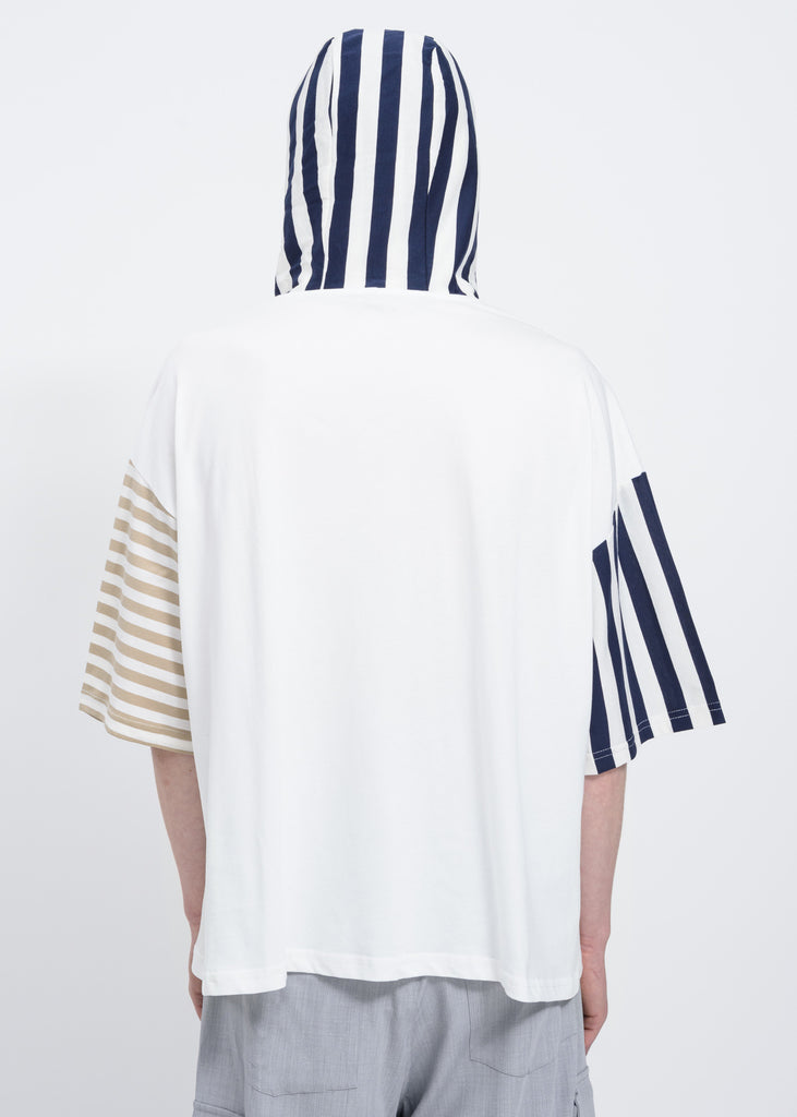 White Stripes Hooded T-Shirt