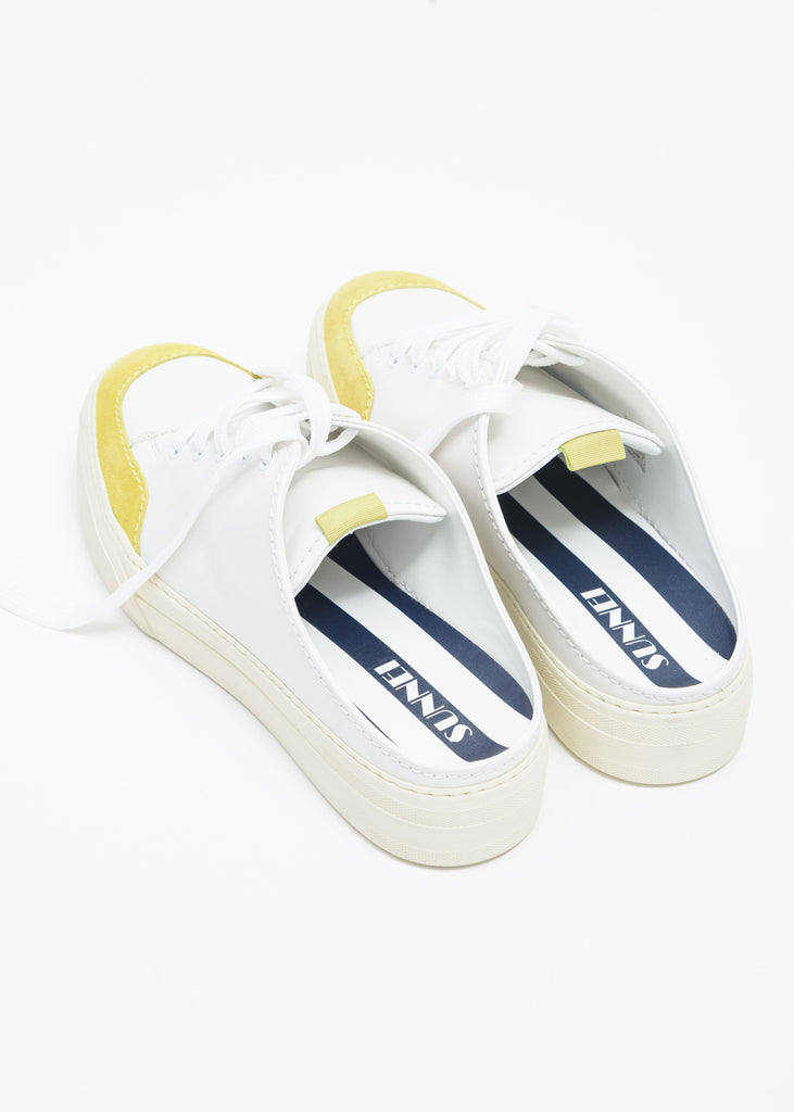 White and Yellow Sabot Sneakers