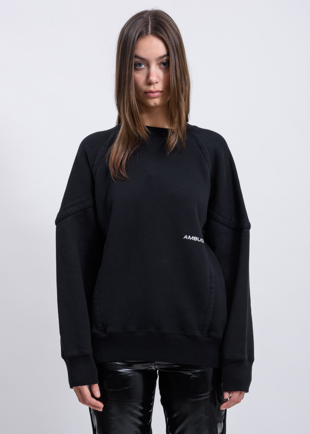 Black Wide Piping Sweater